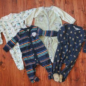 Bundle of 4 Boy Sleepers ~ 6-9 Months